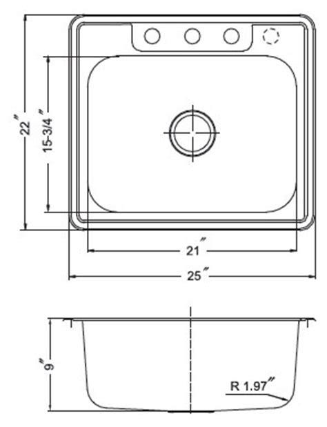 Single Bowl Dropin (top Mount) Stainless Steel Sinks