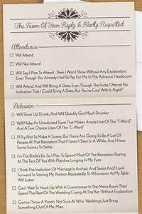 funny wedding invitation rsvp wording yaseen for With funny wedding invitation rsvp goes viral
