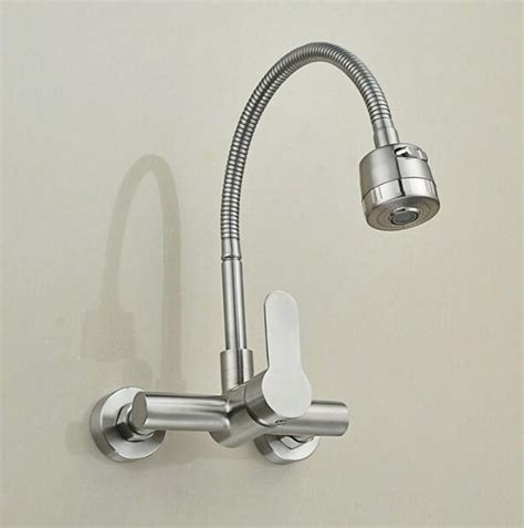 wall mounted stream sprayer kitchen faucet single handle