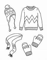 Clothes Coloring Winter Pages Printable Museprintables Printables Outfits Clip Kindergarten Wint Early Digital sketch template