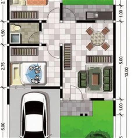 gambar denah rumah minimalis ukuran  terbaru