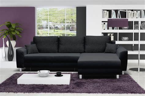 canapé d angle noir tissu design