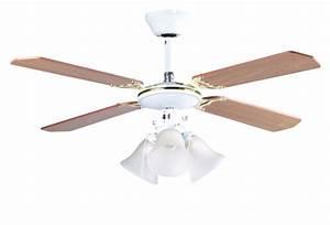 Ventilateur Plafond Bois : ventilateur de plafond en bois 105 cm avec plafonnier ~ Premium-room.com Idées de Décoration