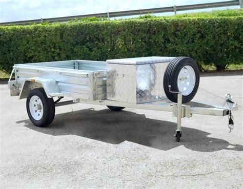 Boat Trailer Wheels Brisbane by 6x4 Box Trailer Tool Box Spare Wheel Brisbane Qld