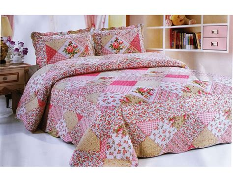 King Quilted Bedspread - patchwork quilted bedspread bedding set embroidered throw
