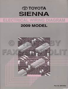 2009 Toyota Sienna Wiring Diagram Manual Original