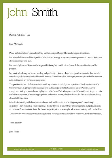 cover letter for cv templates and template