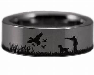 duck hunting scene ring tungsten carbide ring and camo With ducks unlimited wedding rings