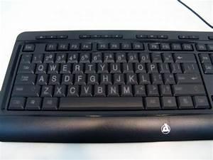 Azio kb505u large print 3 color backlit keyboard review for Backlit keyboard large letters