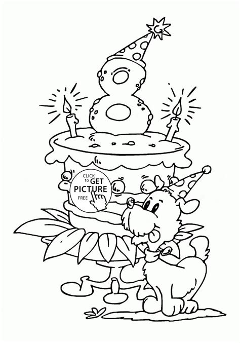 images  birthday coloring pages  pinterest