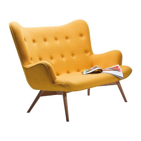 canape retro canapé retro en tissu jaune wings meubles kare