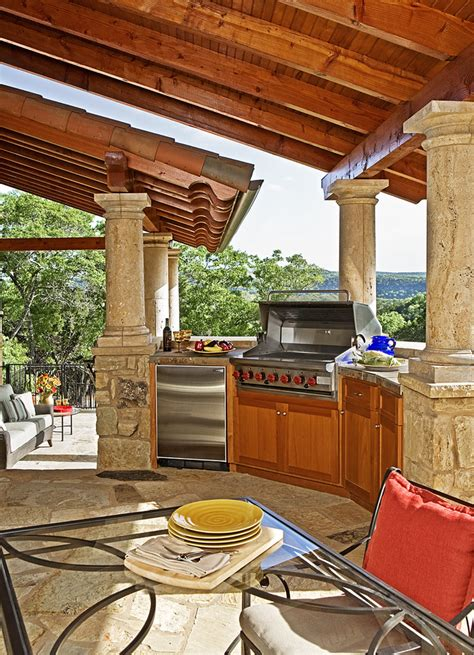 patio kitchens design outdoor kitchen ideas patio rustic with barn lights big 1427