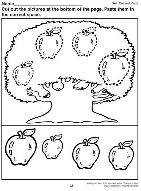 luxury cut and paste activity kindergarten fun worksheet