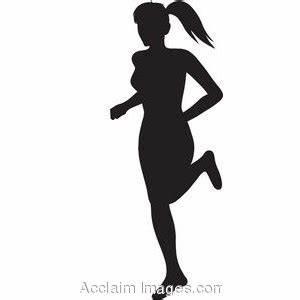 Girl Running Silhouette Clip Art (42+)