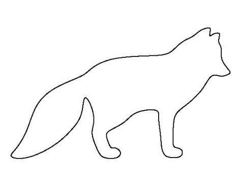 Template Of A Fox by Arctic Fox Pattern Use The Printable Outline For Crafts