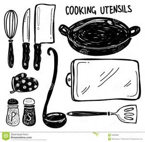 Fireplace Tool Set by Cooking Utensil Doodle Royalty Free Stock Image Image