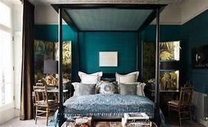 deco chambre turquoise et noir ralisscom With chambre marron et turquoise