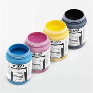 Farbe Für Textilien : siebdruckfarbe dekaprint euro cmyk farbt ne ~ Lizthompson.info Haus und Dekorationen