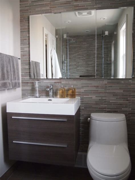 Small Modern Bathroom Remodel by Bathroom Reno In The Kingsway Contemporary Bathroom