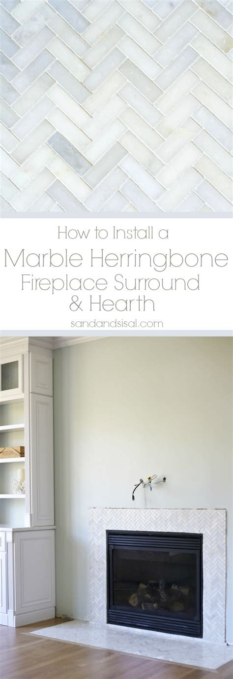 How to Install a Marble Herringbone Fireplace Surround and