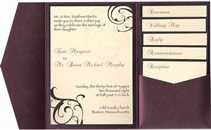 9 best images of pocketfold wedding invitations inserts for Wedding invitation insert holders