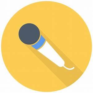 Simple Mic Icon   Free Flat Multimedia Iconset   DesignBolts