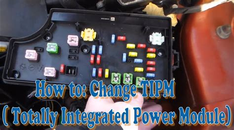 change tipm totally integrated power module