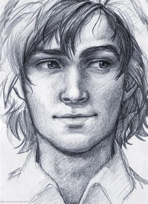 Pencil Drawings of Guys Faces