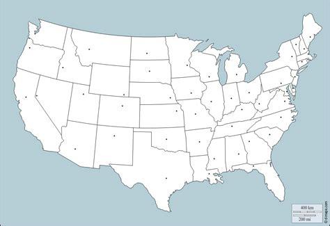 leere karte von amerika laender und hauptstaedte