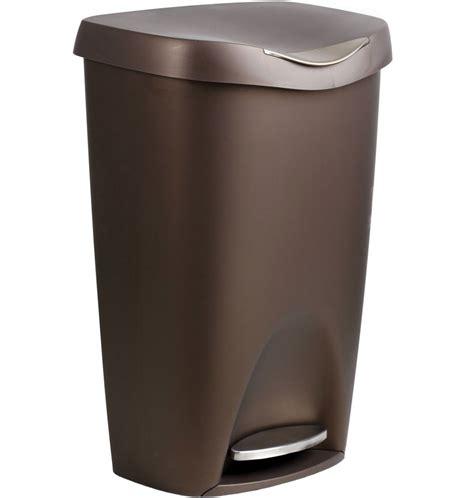 bronze brim   step   kitchen trash cans