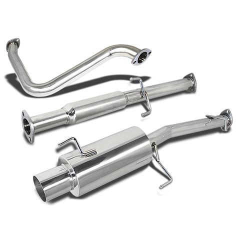 Dna Exhaust System by Dna Motoring For 92 96 Honda Prelude Catback Exhaust