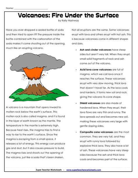 geography worksheets on volcanoes parts of a volcano printable volcano worksheets places