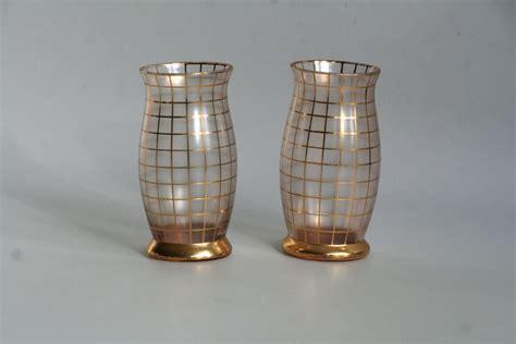 gebroeders podbira haida deux vases en verre d 233 co avec d 233 cor g 233 om 233 trique catawiki