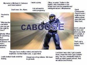 Red Vs Blue Cab... Caboose Funny Quotes
