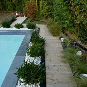 beautiful amenagement paysager moderne gallery design With attractive jardin paysager avec piscine 10 amenagement exterieur