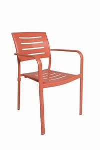 Chaise De Jardin Aluminium : chaise de jardin empilable colore tout en aluminium eiffel ~ Teatrodelosmanantiales.com Idées de Décoration