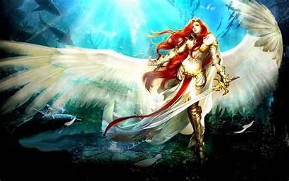 Angel Warrior Fantasy Guardian Wallpapers Hair Wings