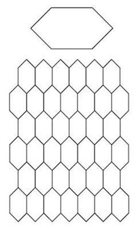 honeycomb paper pieces template