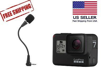 flexible external microphone gopro hero black pro