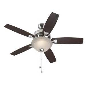 harbor breeze 44 in harbor breeze penticton brushed nickel ceiling fan lowe 39 s canada
