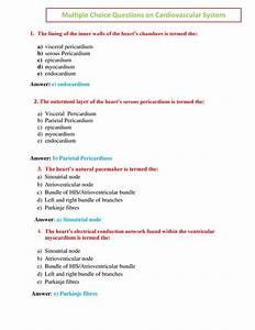 Multiple Choice Question On Cardiovascular System