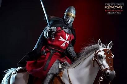 Hospitaller Knights Knight Crusader Banner Aci Crusaders
