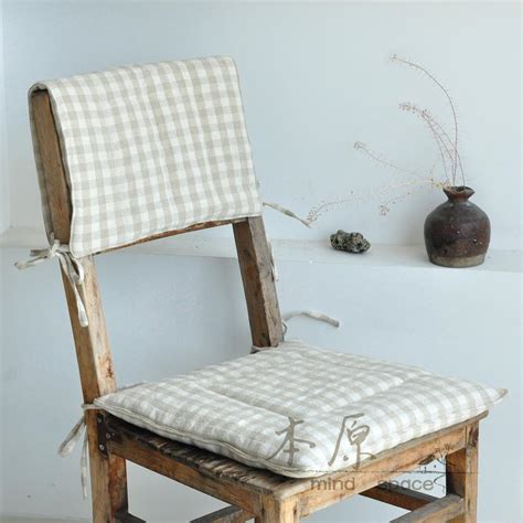 free shipping plaid linen chair pad back cushion sofa