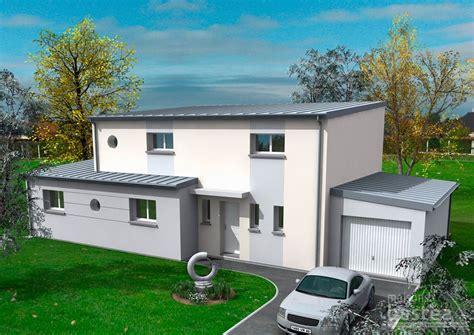 celeste maison contemporaine toit 1 pente avec garage avant bastea