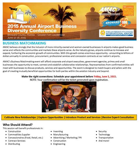 amac conference business matchmaking with concessionaires airport
