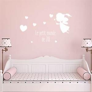 sticker chambre bb fille stickers nuages avec textes With chambre bébé design avec coeur fleurs artificielles