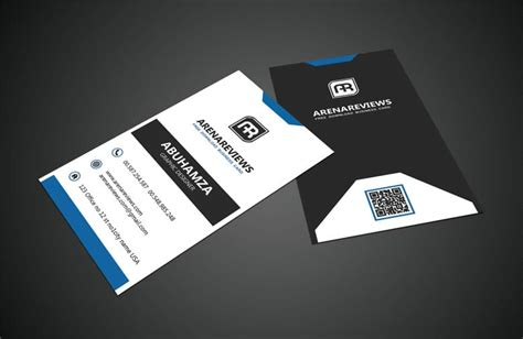 professional black out business card template black white vertical business card standard template