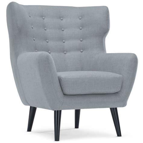 fauteuil scandinave a 233 ro tissu gris pas cher scandinave deco
