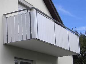 balkongelander zaune und sichtschutz aus aluminium With französischer balkon mit weißer gartenzaun kunststoff
