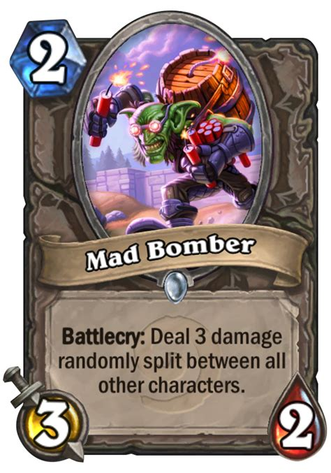 mad bomber hearthstone card